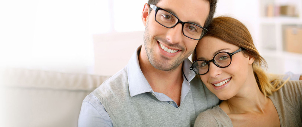 couple in glasses